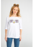 Women's t-shirt with eyes of dragonfly