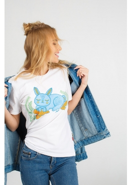 Women's T-shirt with a bunny