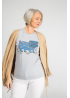 Grey women t-shirt with pug