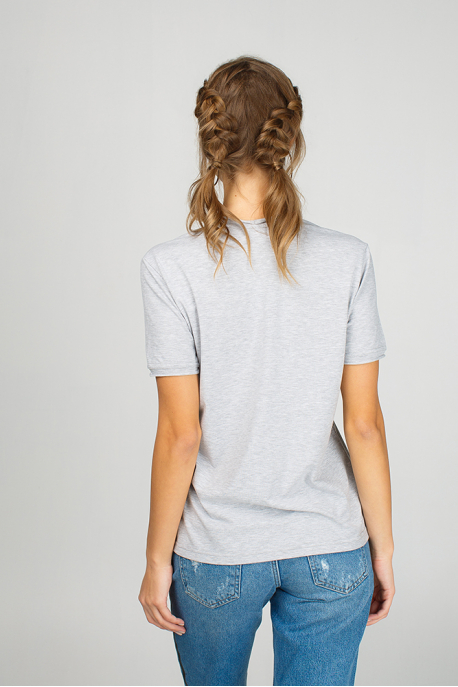 Grey women t-shirt with eagle