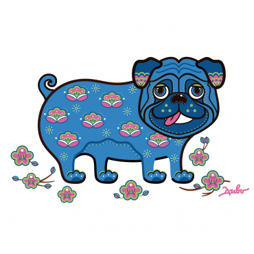 "Meaning of illustration ""Apricot Pug"""