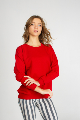 Womens red sweatshirt
