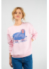 Pink sweatshirt with sheep print