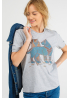 "Grey Women's T-Shirt ""Steel Wolf"""
