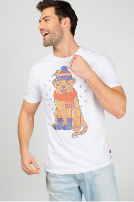 "Men's T-Shirt ""New Year's Wonderdog"""