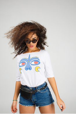 "Women's T-shirt ""Dyvooo-Eyes. Enchanted love"""