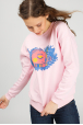 Women's pink sweatshirt with piggy