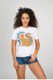 "Women's T-Shirt ""The Squirrel and the oak leaf"""