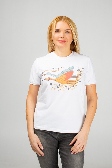 Women's t-shirt with storks illustration