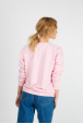 Women's pink sweatshirt with mouse print