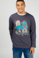 Men's sweatshirt with wolf