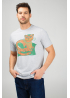Grey men's t-shirt with Cat-Whale