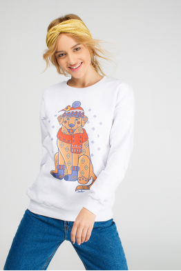 "The women's sweatshirt ""Christmas Labrador"""