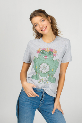 "Grey Women's T-Shirt ""The Princess Frog"""