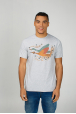 Men's T-Shirt with print sky storks