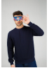 Dark blue men's sweatshirt