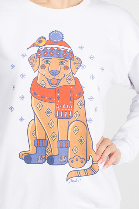The women's sweatshirt Christmas Labrador