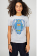 Grey t-shirt with cool owl