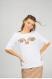 Women's T-shirt with eyes of Cat & Whale