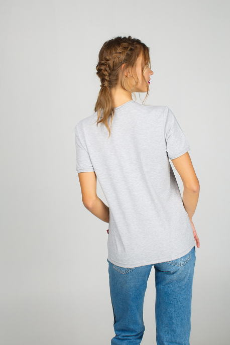 Grey t-shirt for women with piggy