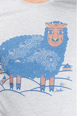 "Grey Men's T-Shirt ""Sheep"""