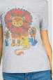 Women's grey t-shirt with lionet