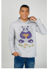 "MEN'S SWEATSHIRT HOODIE ""Panda with mandarins"""