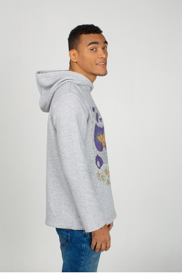 "Men's hoodie ""Panda with mandarins"""