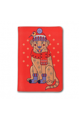 "Passport Cover ""Christmas Labrador"""