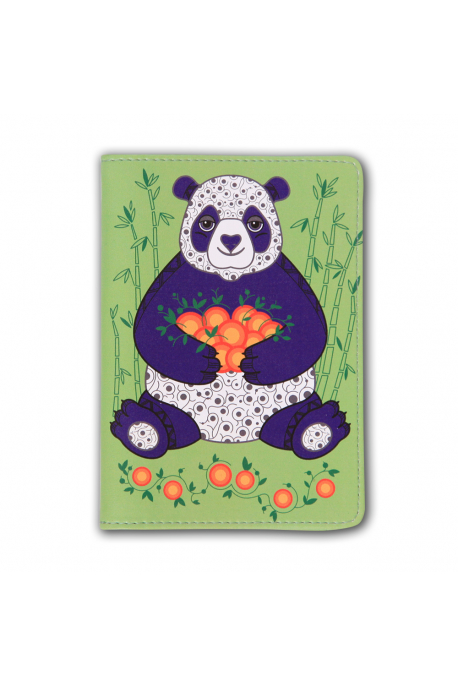 Ethnic passport holders with panda