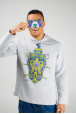 Men's hoodie with defender illustration