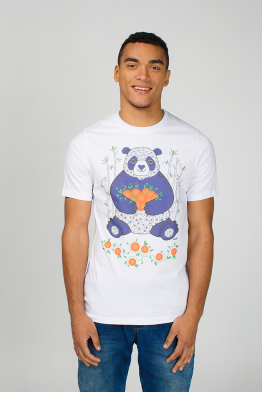 "Men's t-shirt ""Panda with mandarins"""