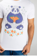 Men's t-shirt panda with mandarins