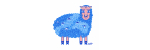 Curly blue sheep
