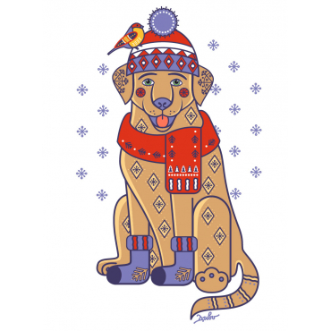 "Illustration ""Christmas Labrador"""