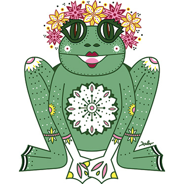 "Meaning of illustration ""The Princess Frog"""