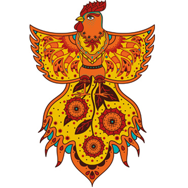 "Meaning of illustration ""Fire Rooster"""