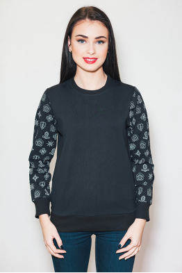 Women's Sweatshirt black pattern
