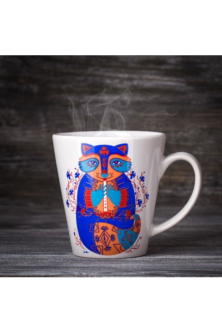 "Mug ""The Cornflower Raccoon"""