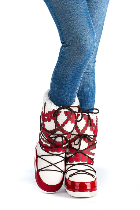"Women's winter Dyvooo-Boots ""The Red Beads"""