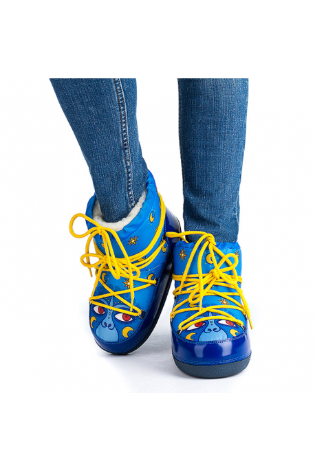 Women's snow boots with monkey eyes