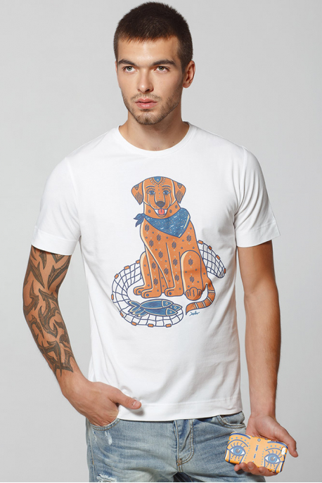 Men's T-Shirt with Canadian Labrador print