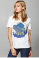 T-shirt for women with blue fish