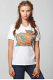 "Women's T-Shirt ""Emerald Cat-whale"""