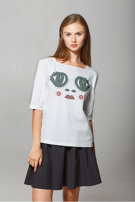 Women's t-shirt with eyes of the Princess Frog