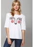 "Women's T-Shirt ""Dyvooo-Eyes. Baroque Ermine"""