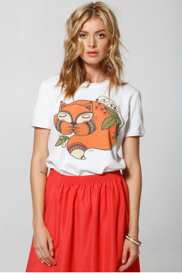 "Women's T-Shirt ""Little fox is sleeping"""
