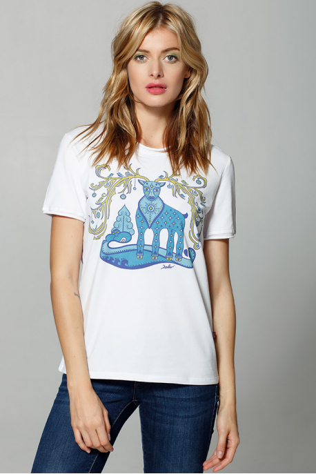 "T-shirt ""Fabulous deer"""