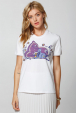 Women's T-Shirt with The Baby Deer and its mother print
