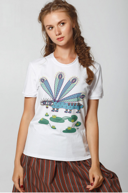 "Women's T-Shirt ""The Violet Dragonfly"""